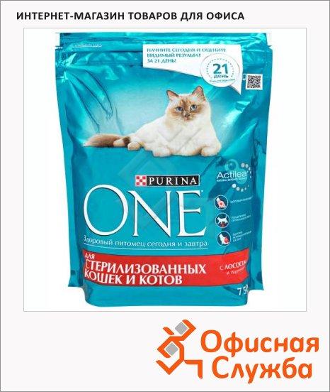 фото: Сухой корм для кошек Purina One с лососем и пшеницей 750г