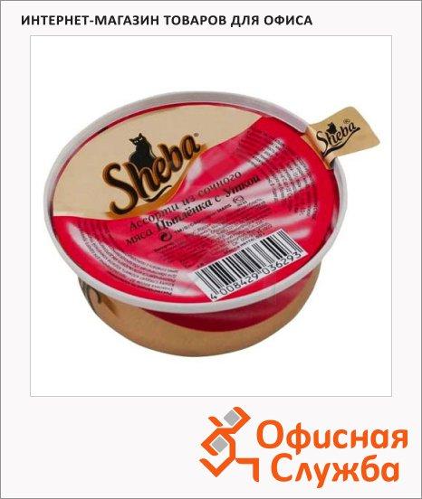 Влажный корм для кошек Sheba Турнедо из ломтиков цыпленка и утки, 80г