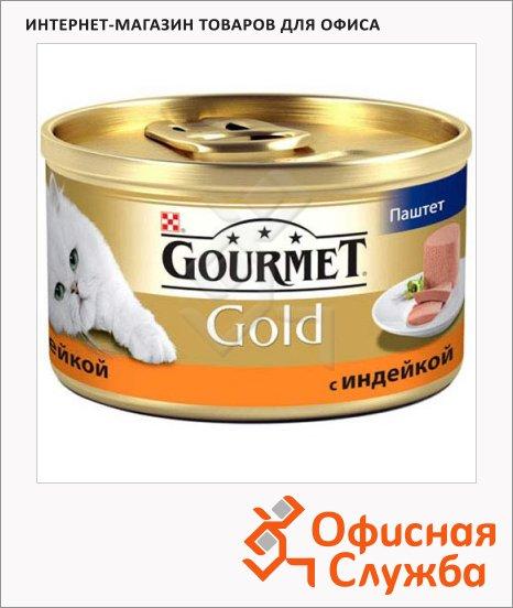 фото: Консервы для кошек Gourmet Gold паштет с индейкой 85г, ж/б