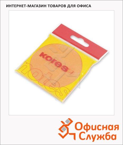 Блок для записей с клейким краем Kores оранжевый, неон, 75x75мм, 100 листов