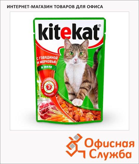 фото: Влажный корм для кошек с говядиной и морковью