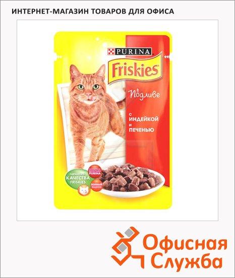 фото: Влажный корм для кошек Friskies в подливе с индейкой и печенью 100г