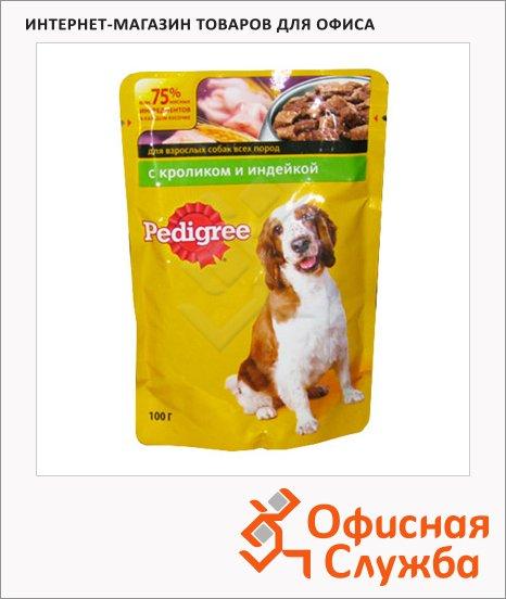 Влажный корм для собак Pedigree с кроликом и индейкой, 100г