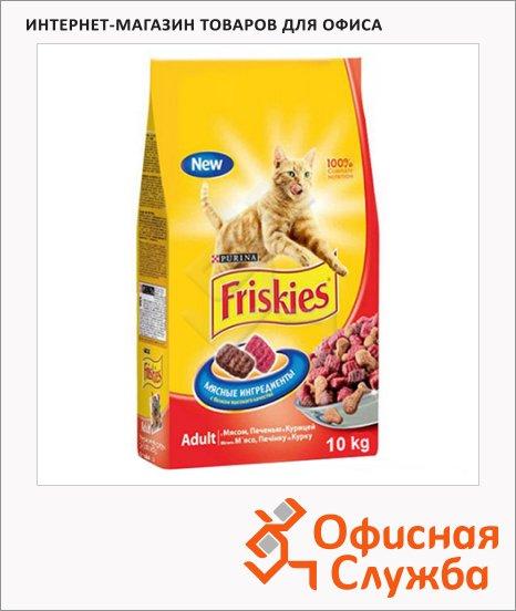 Сухой корм для кошек Friskies с мясом/ курицей/ печенью, 2кг