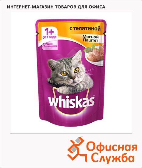 фото: Влажный корм для кошек Whiskas Мясной паштет с телятиной 85г