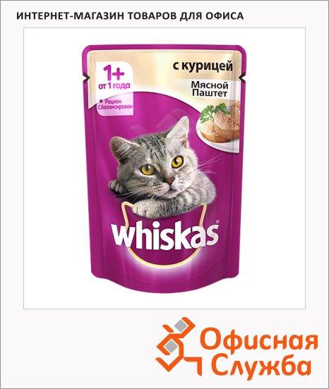 Влажный корм для кошек Whiskas Мясной паштет из курицы, 85г