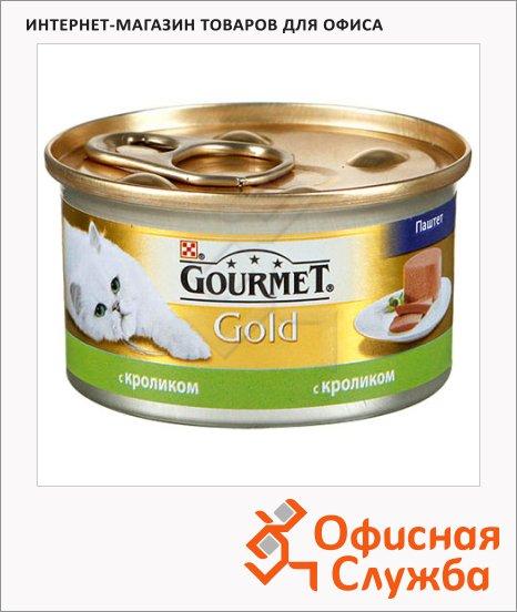 фото: Консервы для кошек Gourmet Gold с кроликом 85г, ж/б