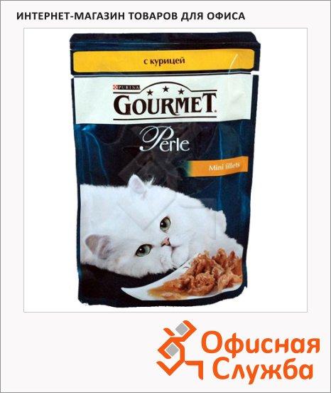 Влажный корм для кошек Gourmet Perle мини-филе с курицей, 85г