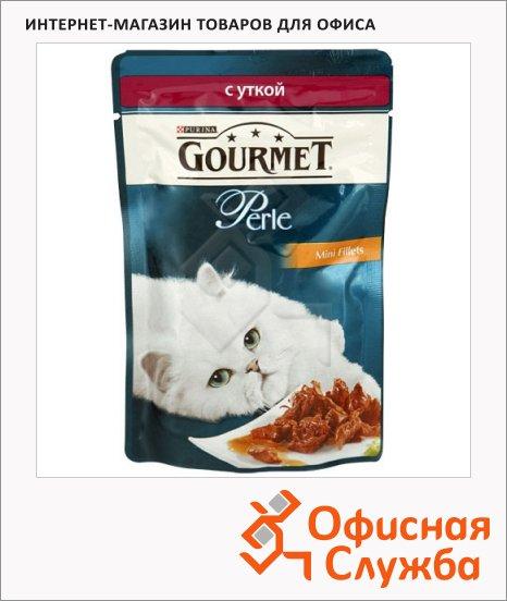 Влажный корм для кошек Gourmet Perle мини-филе с уткой, 85г