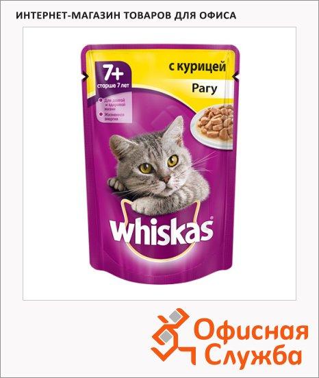 фото: Влажный корм для кошек старше 7 лет Whiskas Рагу с курицей 85г