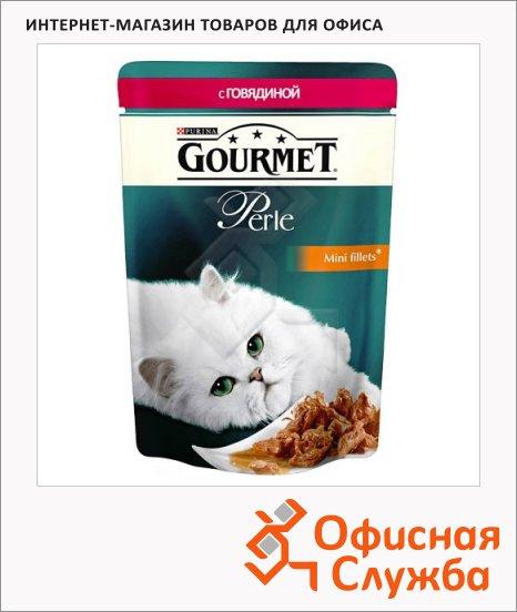 фото: Влажный корм для кошек Gourmet Perle мини-филе с говядиной 85г