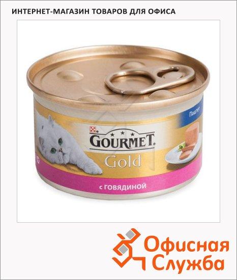 Консервы для кошек Gourmet Gold паштет с говядиной, 85г, ж/б