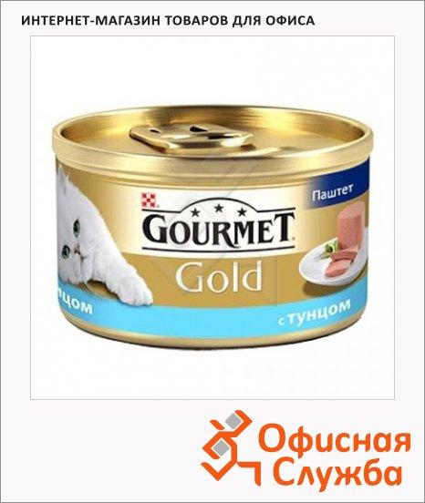 фото: Консервы для кошек Gourmet Gold паштет с тунцом 85г, ж/б