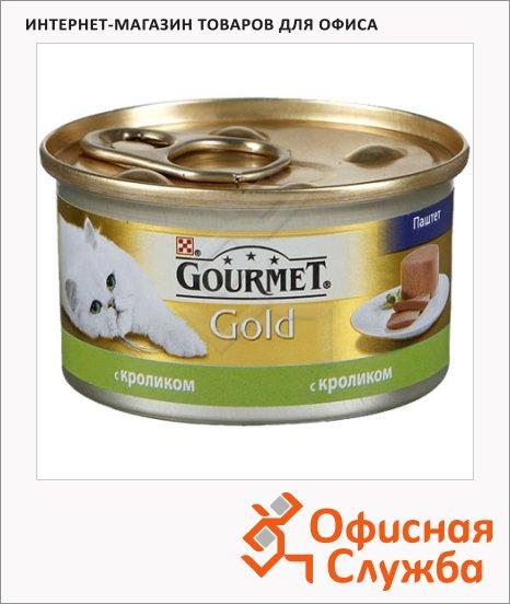 фото: Консервы для кошек Gourmet Gold паштет с кроликом 85г, ж/б