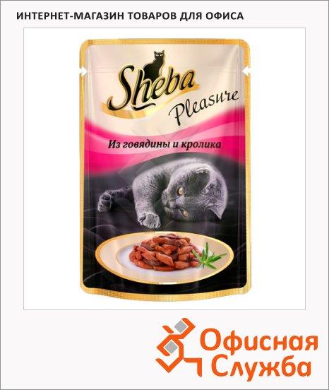 Влажный корм для кошек Sheba из говядины и кролика, 85г