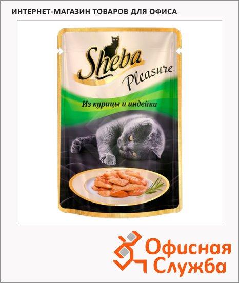 Влажный корм для кошек Sheba из курицы и индейки, 85г