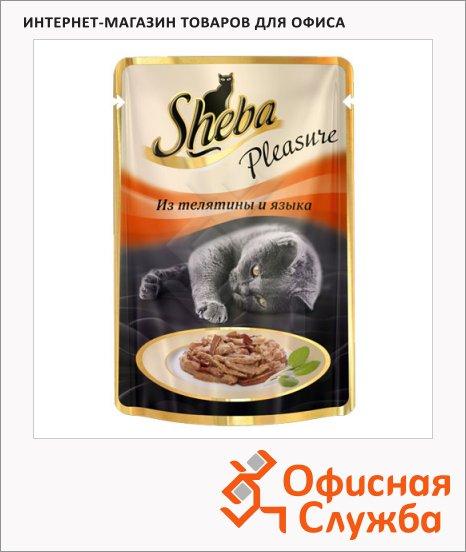 фото: Влажный корм для кошек Sheba из телятины и языка 85г