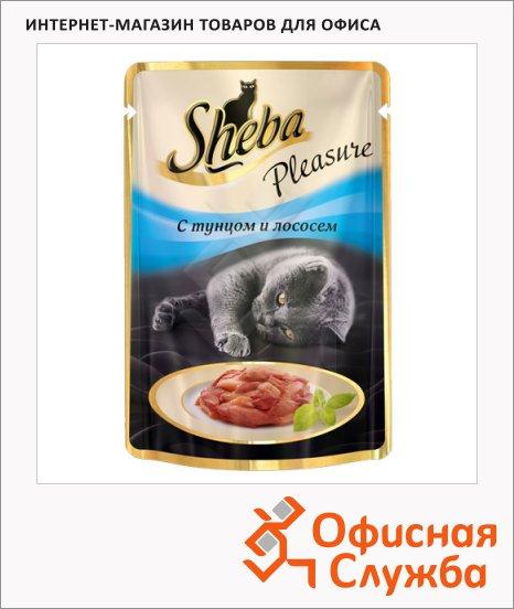 Влажный корм для кошек Sheba с тунцом и лососем, 85г