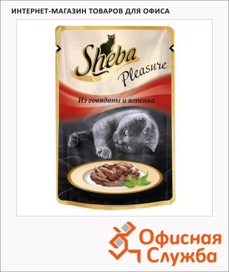 фото: Влажный корм для кошек Sheba из говядины и ягненка 85г