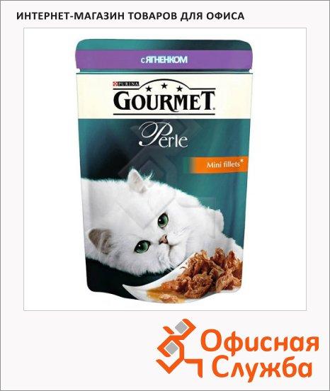 фото: Влажный корм для кошек Gourmet Perle мини-филе с ягненком 85г