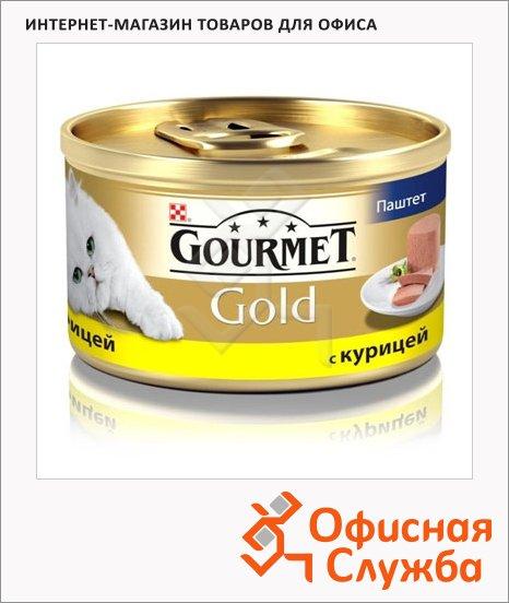 фото: Консервы для кошек Gourmet Gold паштет с курицей 85г, ж/б
