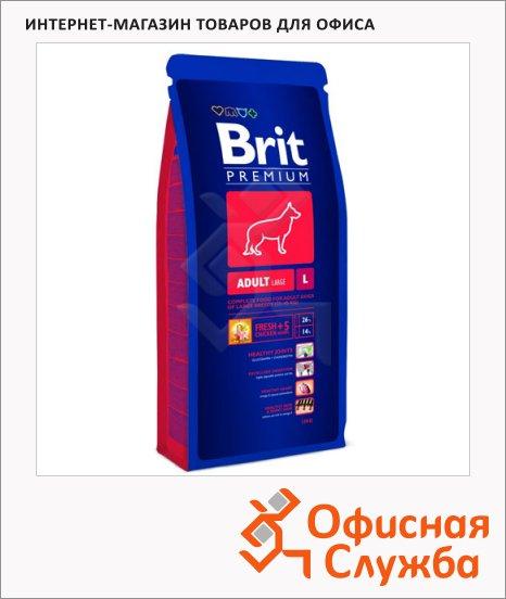 фото: Сухой корм для собак Brit Premium Dog Adult Large с курицей 15кг
