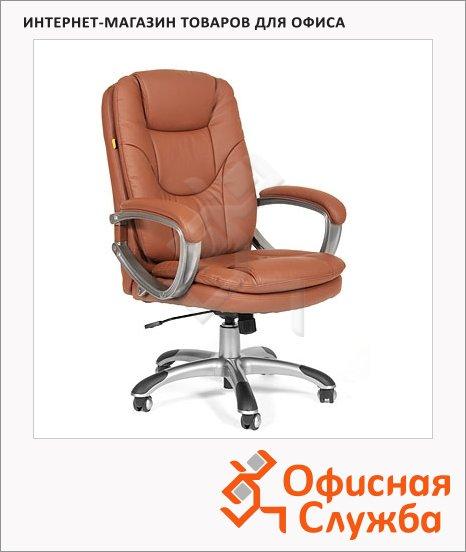 Кресло руководителя Chairman 668 иск. кожа, крестовина пластик, коричневая