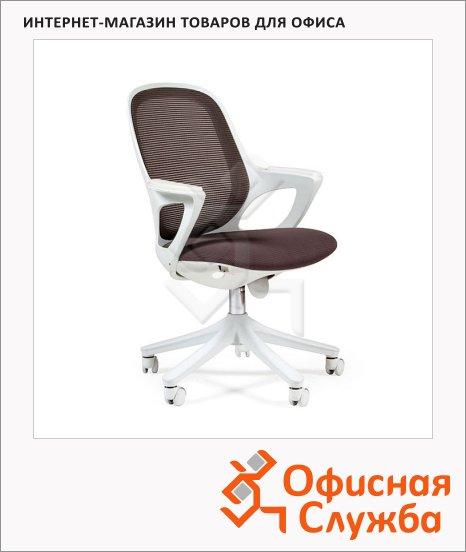 Кресло офисное Chairman 820 ткань, крестовина пластик, белая, серая