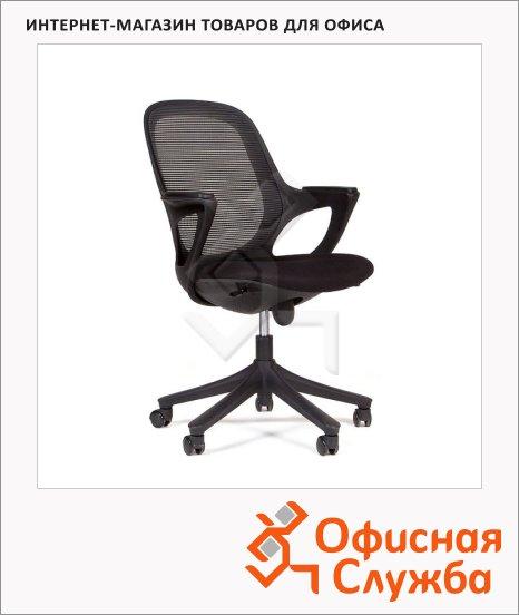 Кресло офисное Chairman 820 ткань, крестовина пластик, черная