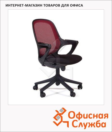 фото: Кресло офисное Chairman 820 ткань черная, крестовина пластик, черная, красная
