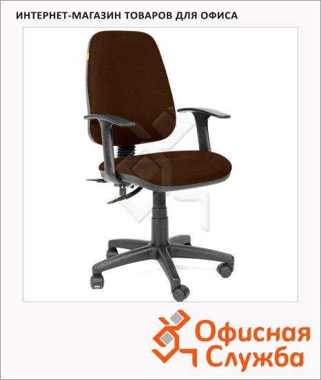 Кресло оператора Chairman ткань, коричневая, крестовина хром