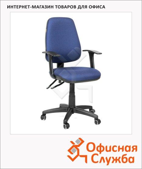 Кресло офисное Chairman 661 ткань, синяя, крестовина хром
