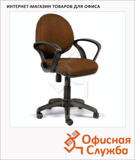 Кресло офисное Chairman 682 ткань, JP, крестовина пластик, коричневая