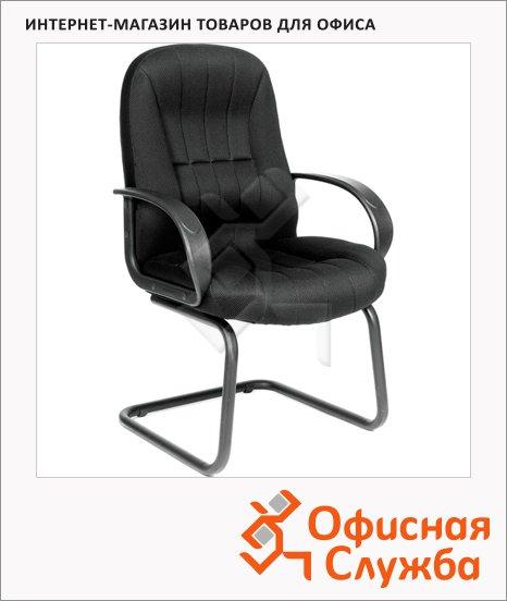 Кресло посетителя Chairman 685 V ткань, черная, TW, на полозьях