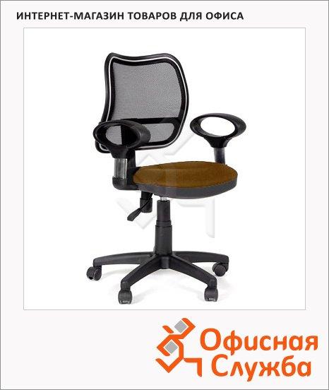 фото: Кресло офисное 450 коричневое TW, крестовина пластик, TW-2012