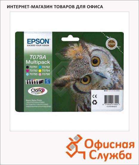 Картридж струйный Epson C13 T079A4 A10, 6 цветов, 6шт/уп