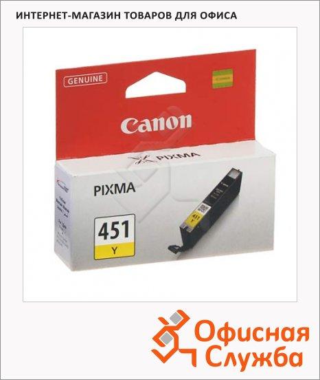 Картридж струйный Canon CLI-451Y, желтый, (6526B001)