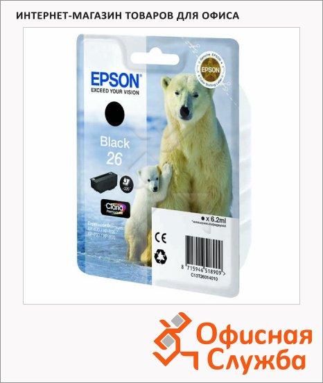Картридж струйный Epson C13 T2601/11/12/13/14/15 4010 C13 T2601 4010, черный