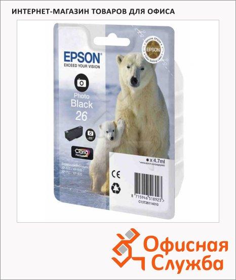 Картридж струйный Epson C13 T2601/11/12/13/14/15 4010 C13 T2611 4010, черный фото