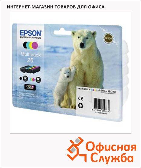 Картридж струйный Epson C13 T2601/11/12/13/14/15 4010 C13 T2616 4010, 4 цвета