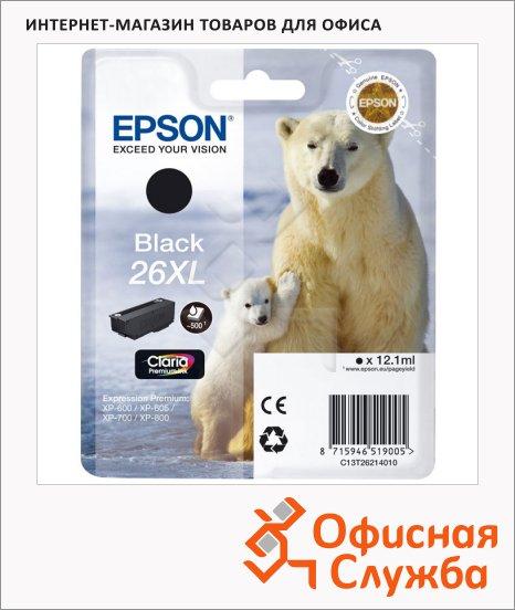 фото: Картридж струйный Epson C13T2621 4010 черный