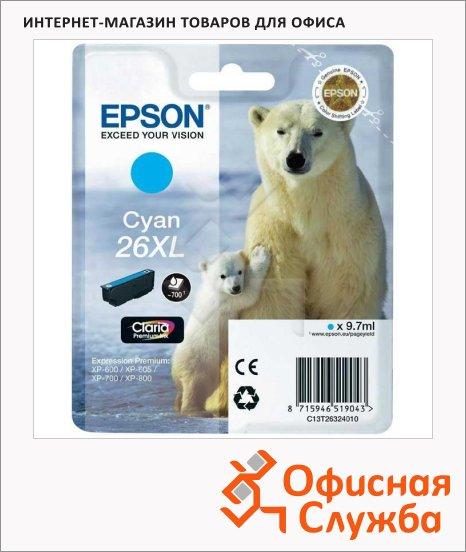 Картридж струйный Epson C13T2632 4010, голубой