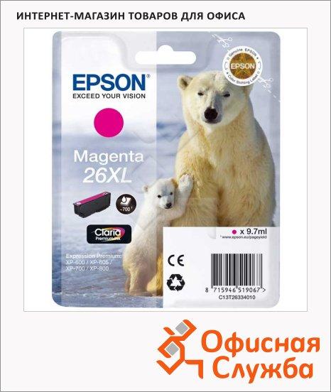 Картридж струйный Epson C13T2633 4010, пурпурный
