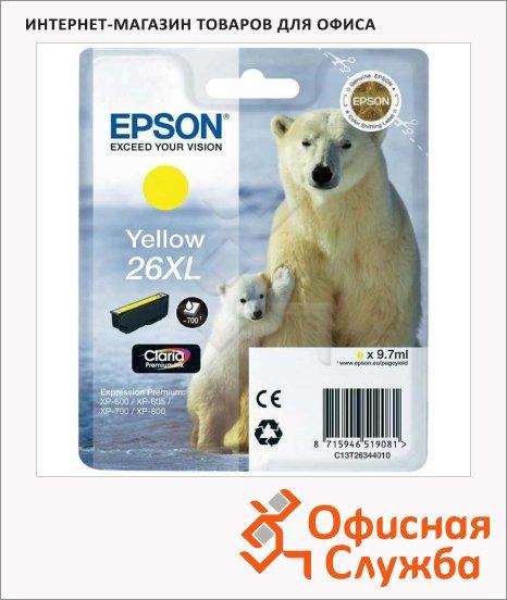фото: Картридж струйный Epson C13T2634 4010 желтый