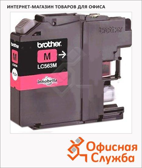 Картридж струйный Brother LC-563M, пурпурный