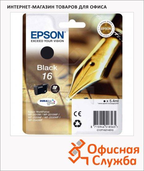 фото: Картридж струйный Epson C13 T1621 4010 черный