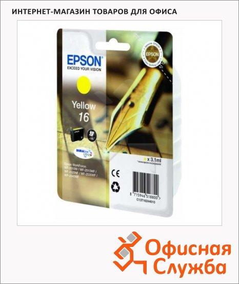 фото: Картридж струйный Epson C13 T1624 4010 желтый