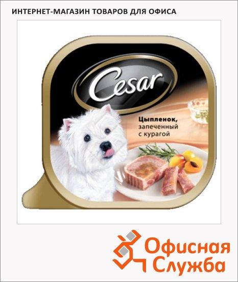 Консервы для собак Cesar цыпленок запеченный c курагой, 100г