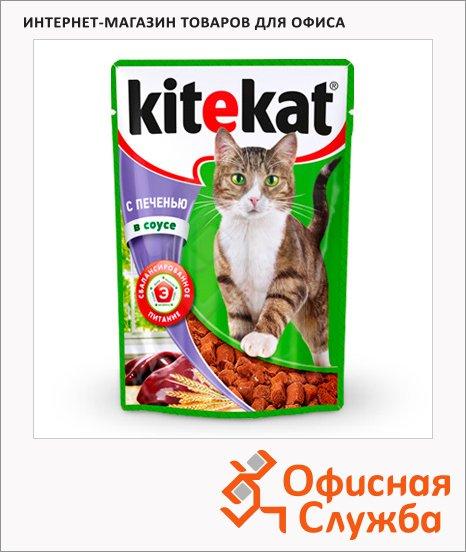 Влажный корм для кошек Kitekat с печенью в соусе, 100г