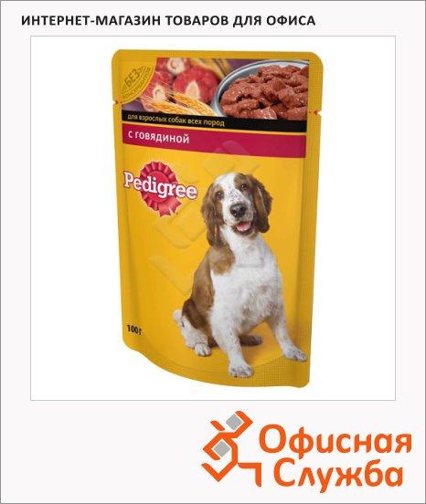 Влажный корм для собак Pedigree с говядиной, 100г
